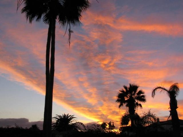 Tenerife sunset at the villa